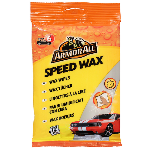 ArmorAll 12ct Speed Wax Wipes x6
