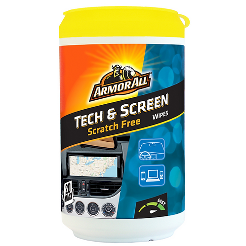 ArmorAll 20ct Tech & Screen Wipes Wipes x6