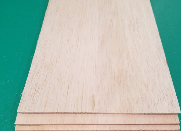 "Balsa Wood 3/32 x 6 x 36"""