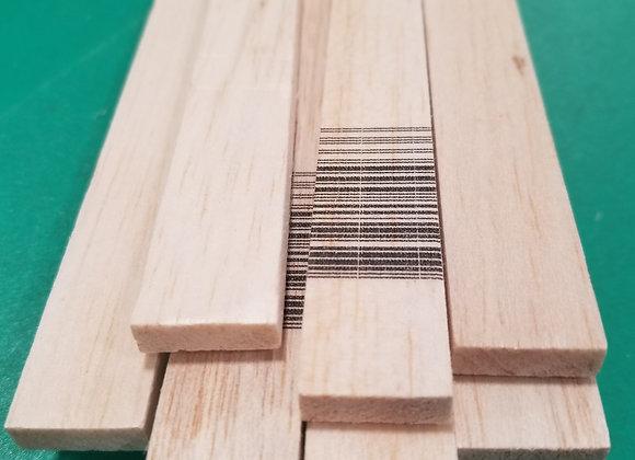"Balsa Wood 1/4 x 3/4 x 36"""