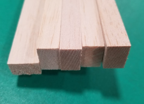 "Balsa Wood 1/2 x 3/4 x 36"""