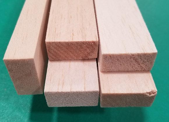 "Balsa Wood 1/2 x 1 x 36"""