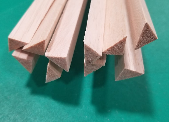 Balsa Triangle 1/2 x 1/2 x 36""