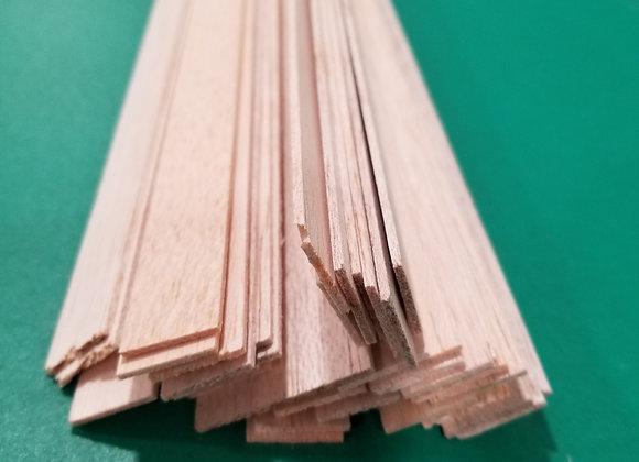 "Balsa Wood 1/16 x 3/4 x 36"""