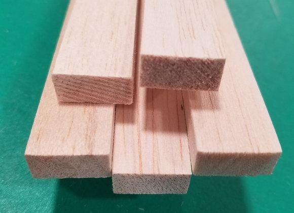 "Balsa Wood 3/8 x 3/4 x 36"""