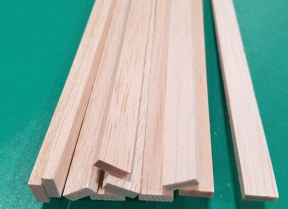 "Balsa Wood 3/16 x 1/2 x 36"""