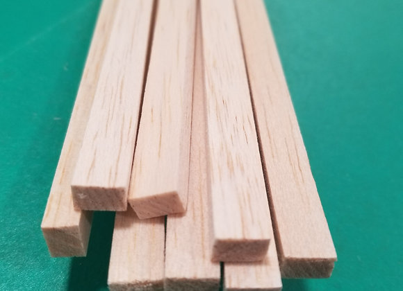 "Balsa Wood 1/4 x 3/8 x 36"""