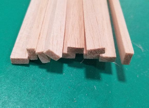 "Balsa Wood 3/16 x 3/8 x 36"""