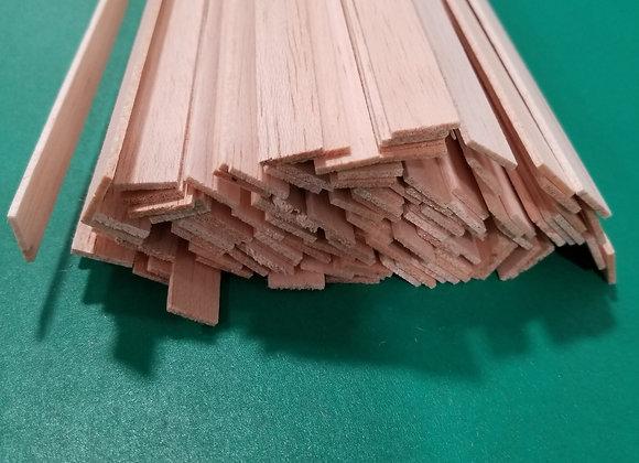 "Balsa Wood 1/16 x 1/2 x 36"""