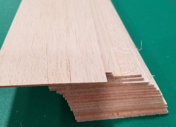 "Balsa Wood 1/16 x 3 x 36"""