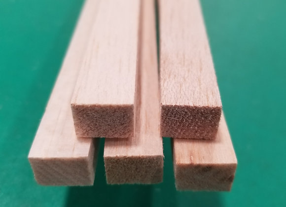 "Balsa Wood 3/8 x 1/2 x 36"""