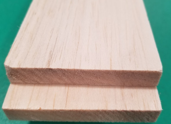 "Balsa Wood 1/2 x 3 x 36"""