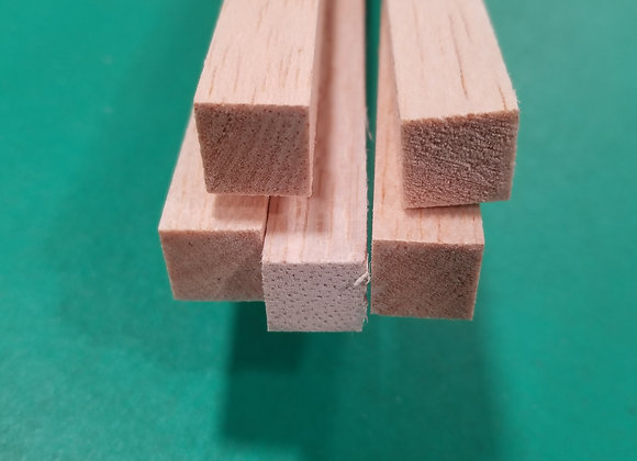 "Balsa Wood 1/2 x 1/2 x 36"""