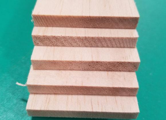 "Balsa Wood 1/4 x 3 x 36"""