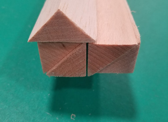 Balsa Triangle 1 x 1 x 36""