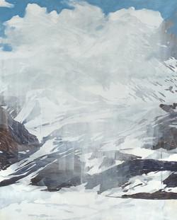 Montagne avec nuage