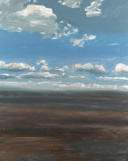 Paysage, horizon et nuages