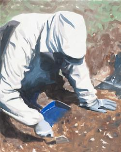 Archéologue - gants bleus