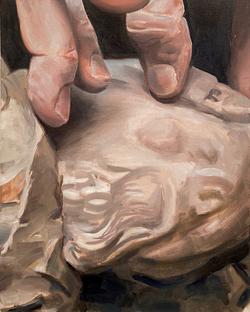 Statuette et doigts
