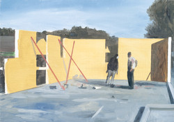Chantier - mur jaune
