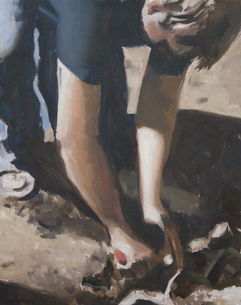 Archéologue, outil rouge