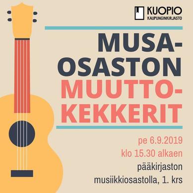 Kuopion kaupunginkirjaston konsertti 9.2019