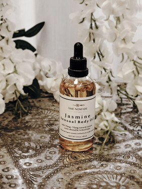 Jasmine Sensual Bodyoil - with ylang- ylangextracts sweet almond oil & Orchard fruit lang - ylang extracts