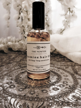 Jasmine scented hair oil with ylang - ylang extracts