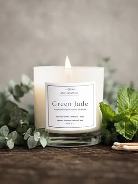 Green Jade - Essential oil blends soy Candle
