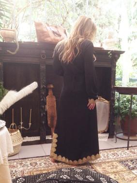 maharani kaftan dress, black