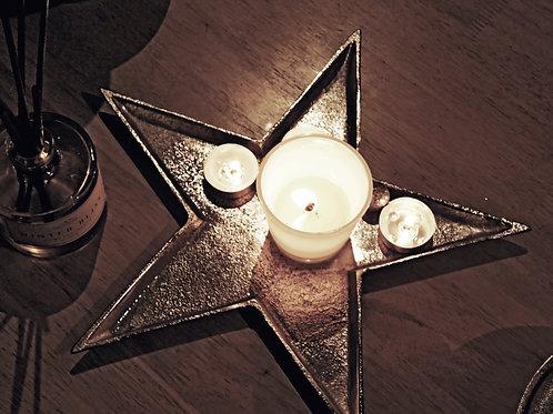 Star shaped metal tray