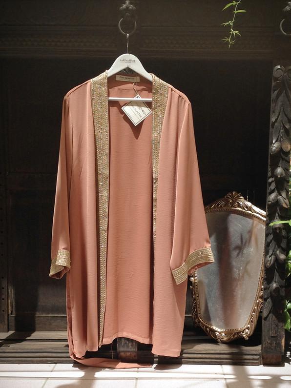 malika kimono dress, dusty pink