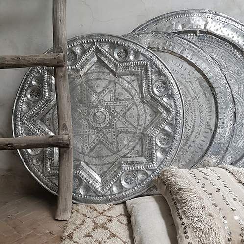 moroccan vintage tray - large