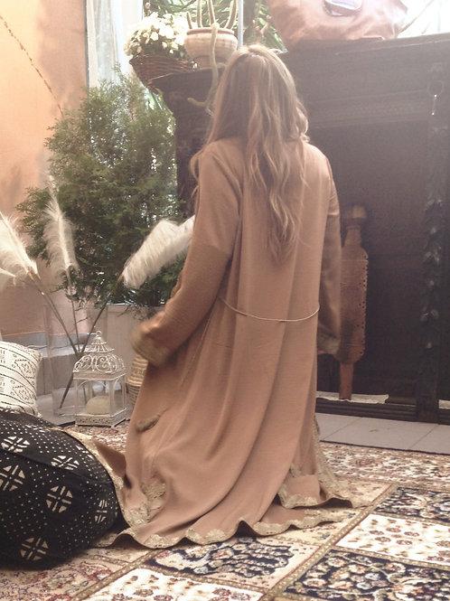 maharani kaftan dress, beige