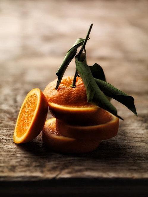 Orange peel powder mask