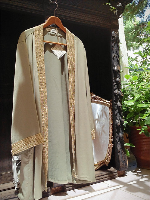 malika kimono dress, olive