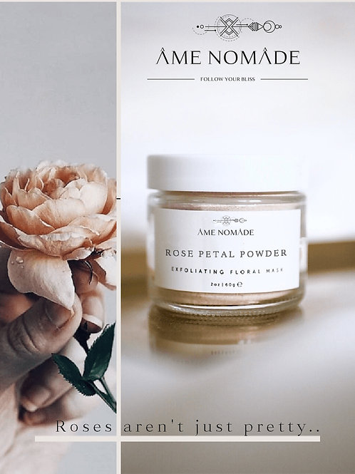 Rose petals powder mask