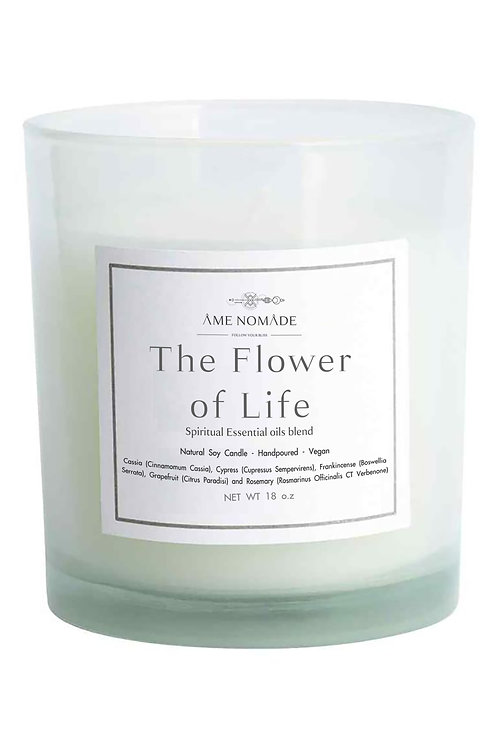 The Flower of Life - Spiritual oils blend soy candle