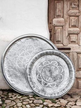 moroccan vintage tray - xlarge