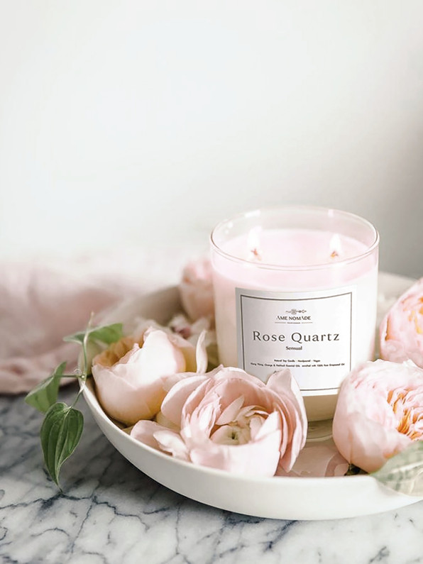 Rose Quartz - Sensual Essential oil blends soy Candle