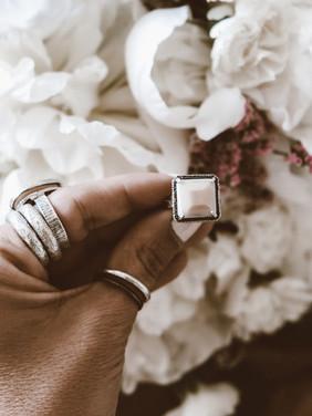 Silver Squared Ring Anzar