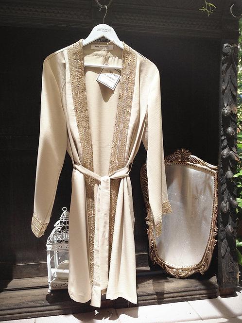 malika kimono dress, cream