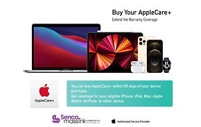 Buy your AppleCare + to extend the warranty coverage