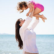 Mother Lifting Daughter