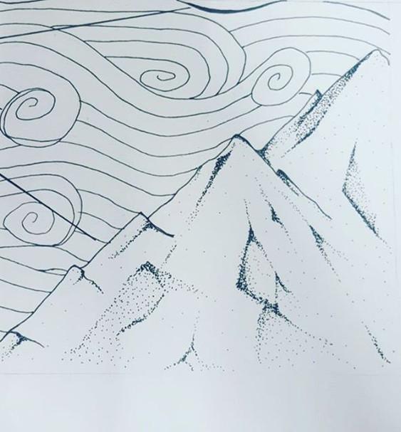 Mountains! #art #pen #mountains #points