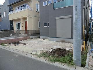 新築外構(アプローチ、駐車スペース、機能門柱等)
