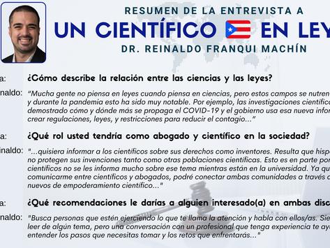 Mini-Serie LA CIENCIA DE LAS LEYES: Un Científico Puertorriqueño en Leyes
