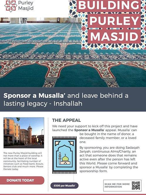 Sponsor a Musalla'