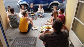 Eating Dinner at Wānanga Kanikani X
