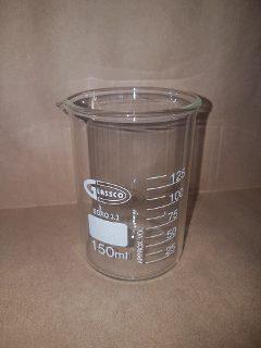 Vasos de precipitado de 150 ml.